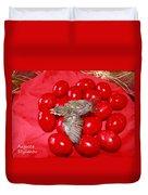 Singing Over Red Eggs Duvet Cover