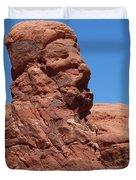 Singing Rock At Arches Np Duvet Cover