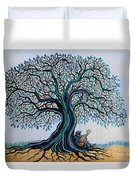 Singing Under The Blues Tree Duvet Cover