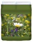 Single Daisy In A Field Duvet Cover