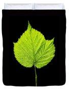 Single Leaf From Raspberry Bush Duvet Cover