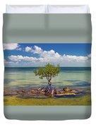 Single Mangrove Tree In The Gulf Duvet Cover