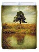 Single Pine Tree Duvet Cover by Carlos Caetano
