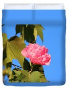 Single Pink Flower Duvet Cover