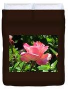 Single Pink Rose Duvet Cover