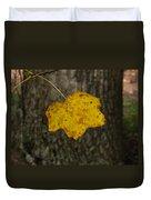 Single Poplar Leaf Duvet Cover
