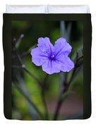 Single Purple Mexican Petunia Ruellia Brittoniana Duvet Cover