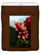 Single Red Dahlia Duvet Cover