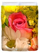 Single Rose Bouquet Duvet Cover