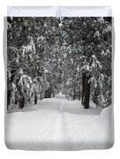 Single Track Cross Country Skiing Trail Yosemite National Park Duvet Cover