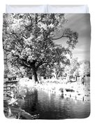 Single Tree Aginst The Sun Duvet Cover