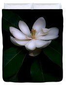 Sweet White Magnolia Bloom Duvet Cover
