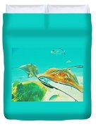 Singray City Cayman Islands Two Duvet Cover