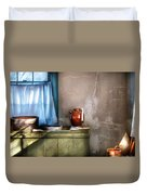 Sink - The Jug And The Window Duvet Cover by Mike Savad