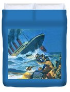 Sinking Of The Titanic Duvet Cover