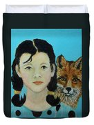 Sinopa Little Fox Duvet Cover by The Art With A Heart By Charlotte Phillips