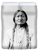Sioux Chief Sitting Bull Duvet Cover by War Is Hell Store