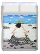 Sippin' On Top Of The World Duvet Cover