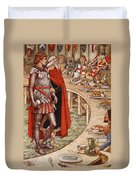 Sir Galahad Is Brought To The Court Of King Arthur Duvet Cover