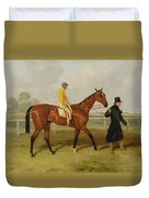 Sir Tatton Sykes Leading In The Horse Sir Tatton Sykes With William Scott Up Duvet Cover