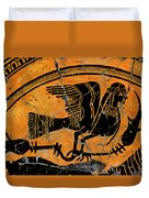 Siren With Lotus Buds - Detail No. 1 Duvet Cover