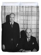 Sirs William And Lawrence Bragg Duvet Cover