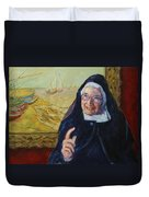 Sister Wendy Duvet Cover
