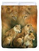 Sisterhood Of The Lions Duvet Cover
