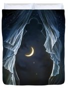 Sisters In The Moonlight Duvet Cover