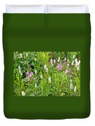 Sitka Burnet And Tall Fireweed In Katmai National Preserve-ak Duvet Cover