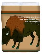 Sitting Bull Buffalo Duvet Cover