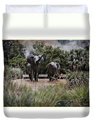 Sitting By The Elephants Duvet Cover