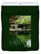 Sitting By The Pond Duvet Cover