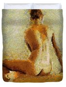 Sitting Nude II Duvet Cover