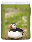 Sitting Puffin Duvet Cover