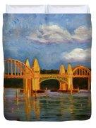 Siuslaw River Bridge Duvet Cover