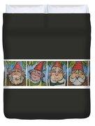 Six Gnomes Horizontal Duvet Cover