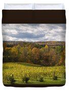 Six Mile Creek Vineyard Duvet Cover by Michele Steffey