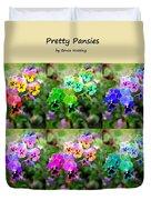 Six Pretty Pansies Duvet Cover