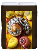 Six Snails Shells Duvet Cover