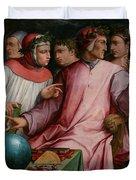 Six Tuscan Poets Duvet Cover by Giorgio Vasari