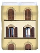 Six Windows Of Florence Duvet Cover