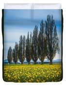 Skagit Trees Duvet Cover by Inge Johnsson