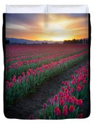 Skagit Valley Blazing Sunrise Duvet Cover