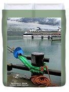 Skagway Dock Duvet Cover