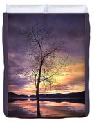 Skaha Lake On A Saturday Morning Duvet Cover