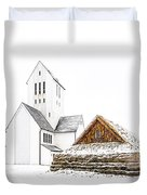 Skalholt Church Duvet Cover