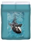Skana Orca Vancouver Aquarium Pat Hathaway Photo1974 Duvet Cover