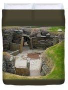 Skara Brae Dwelling Duvet Cover