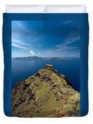 Skaros On Santorini Duvet Cover